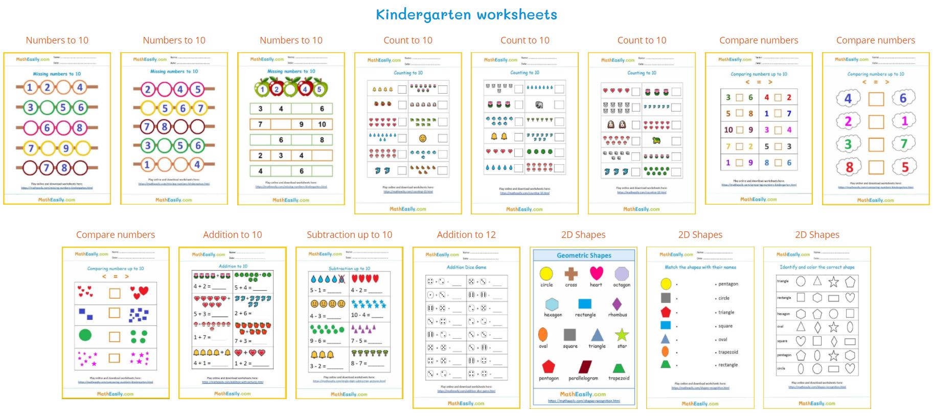 Get a special link and download free math worksheets in PDF.