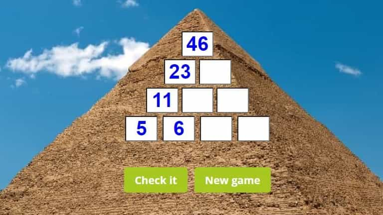 Subtraction pyramid puzzle