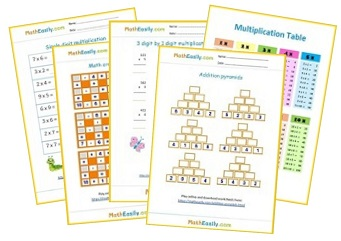 Free Math Worksheets in PDF